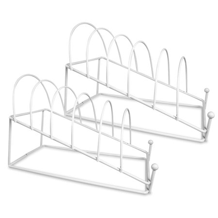 Plate Holder - White 6 Place Plate Stand - Set of 2 Stands - Dinner ...