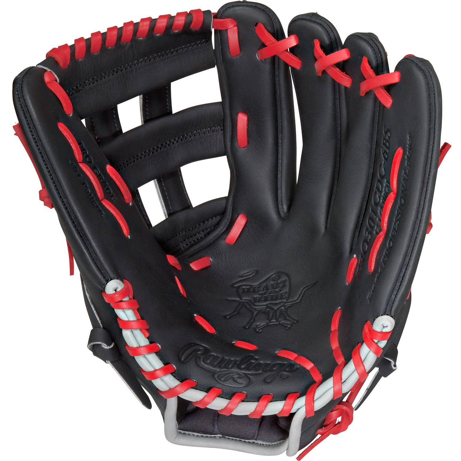 "Rawlings 12.5"" Heart of the Hide Series Baseball Glove, Right Hand Throw"