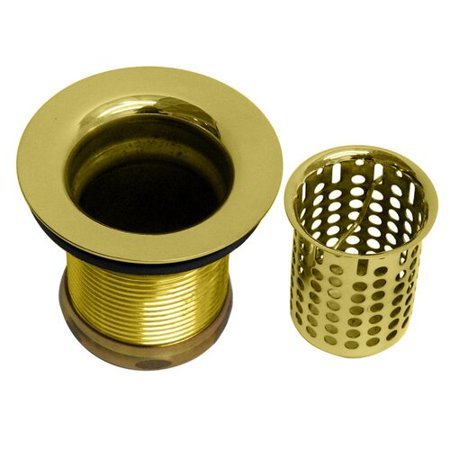 Westbrass Junior Basket Style Bar Strainer D218 in Polished Brass