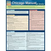 BarCharts 9781423218609 Chicago Manual Of Style Guidelines Quickstudy Easel