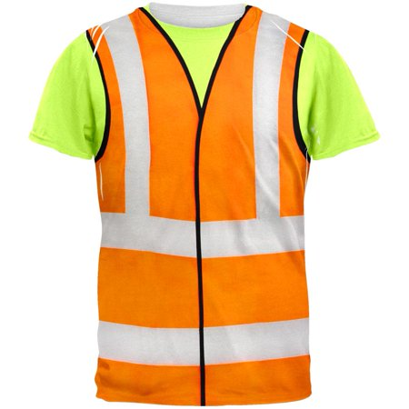 Halloween Road Worker Construction Vest Costume All Over Adult T-Shirt