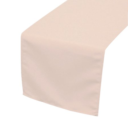 Your Chair Covers - 14 x 108 inch Polyester Table Runner Blush for Wedding, Party, Birthday, Patio, -