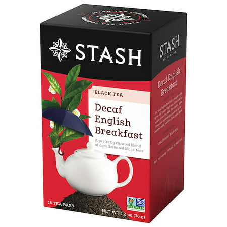 (2 Pack) Stash Tea Decaf English Breakfast Tea, 18 Ct, 1.2 Oz