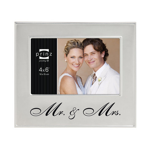 Prinz 'Mr. & Mrs.' Endless Love Metal Picture Frame