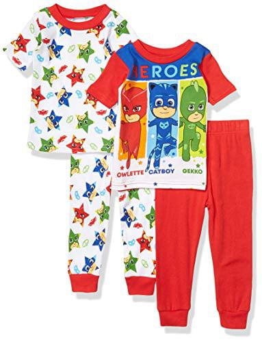PJ Masks Boys 4-Piece Cotton Pajama Set AME