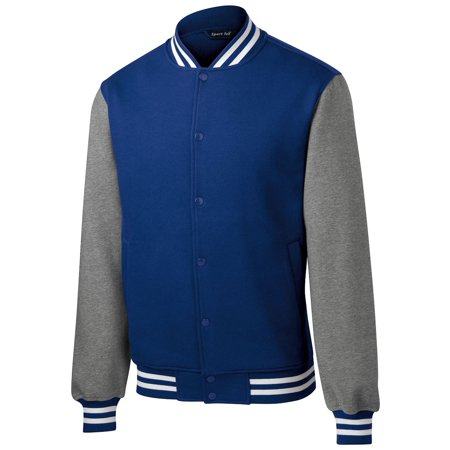 Sport Tek Men's Comfortable Fleece Letterman Jacket for $<!---->