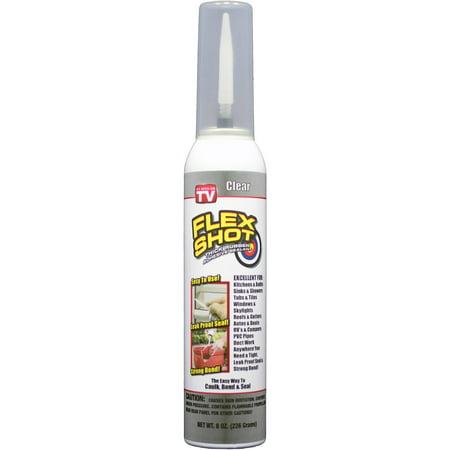 As Seen On Tv Flex Shot Rubber Sealant  Clear  8 Oz