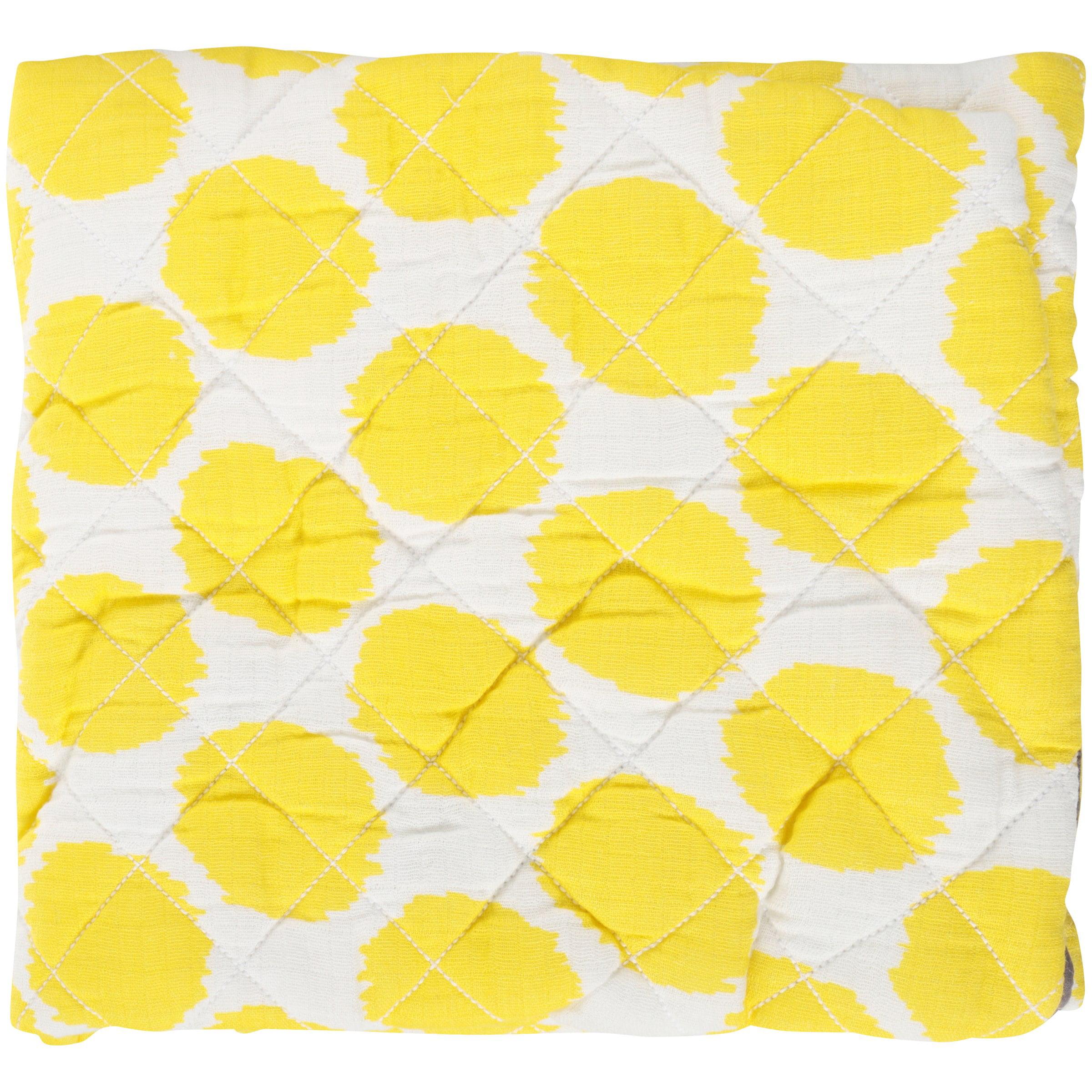 Bacati Ikat Zigzag Yellow Dots Changing Pad Cover