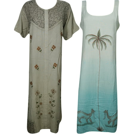 Mogul Womens Bohemian Dresses Resort Wear Evening Summer Fashion Casual Sundress Wholesale Lot Of - Women Wholesale