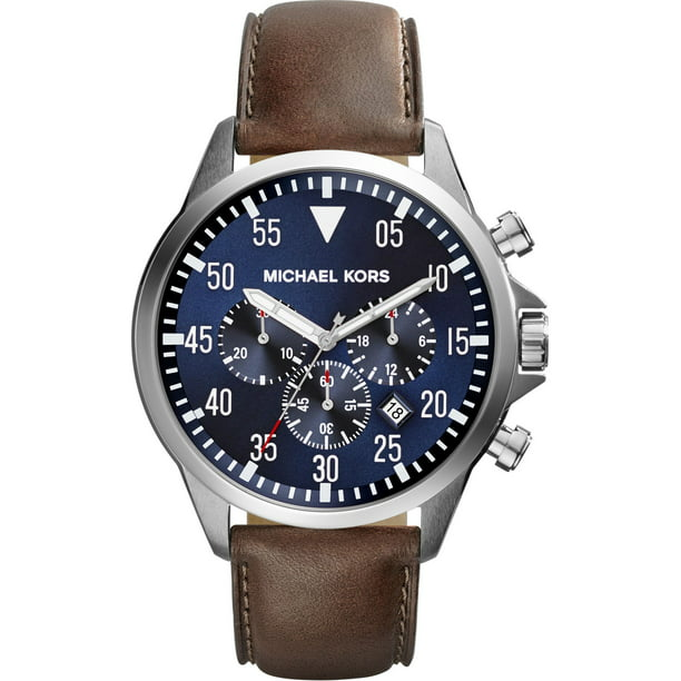 Michael Kors Men's Gage Chronograph Brown Leather Strap Watch MK8362