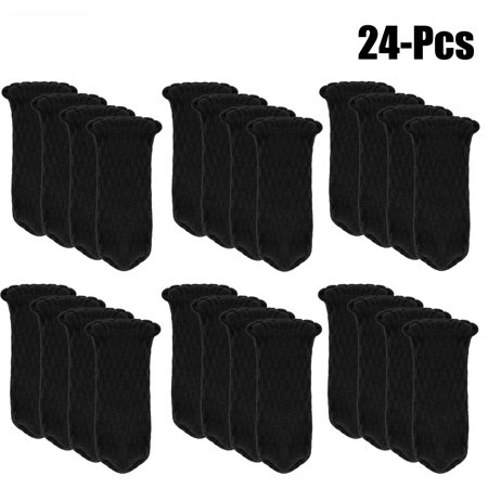 24Pcs Chair Socks, Justdolife Knitted Anti-skid Furniture Leg Covers Caps Floor Protectors Table Pads with Rubberized Grips for Home Kitchen Living Room Patio Office ()