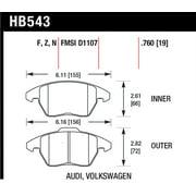 Hawk HP+ Street Brake Pads