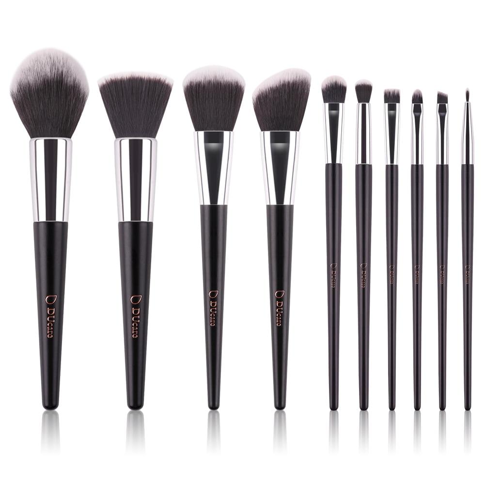 DUcare Makeup Brushes Set  Classic Foundation Eyeshadow Brush Kit w/ Travel Case 10Pcs