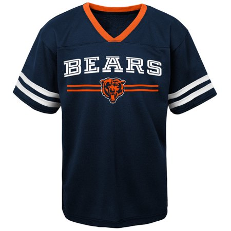 Youth Navy Chicago Bears Mesh V-Neck (Chicago Youth T-shirt)