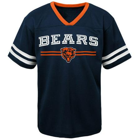 Youth Navy Chicago Bears Mesh V-Neck T-Shirt
