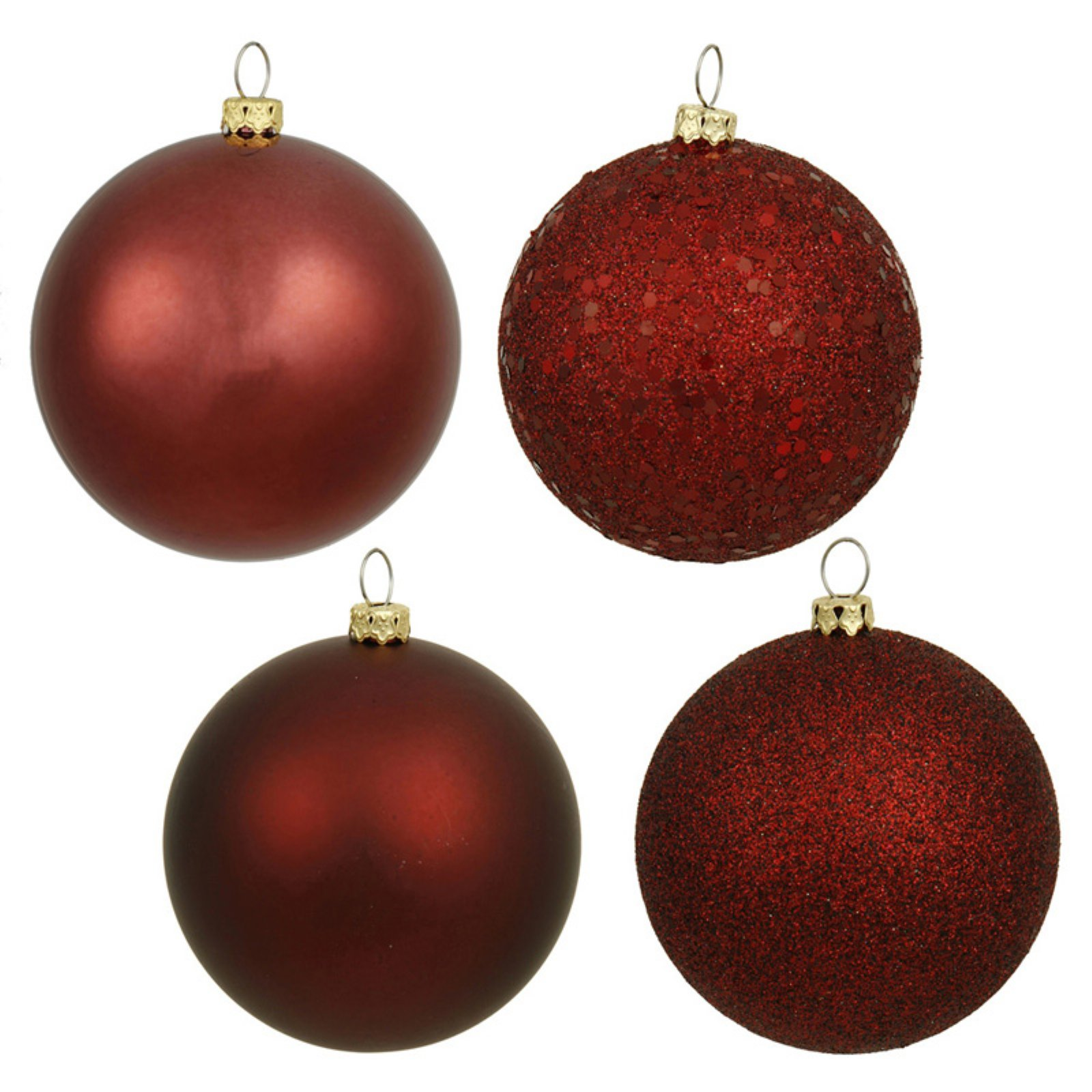 "Vickerman 6"" Ball Christmas Ornaments, Pack of 4"