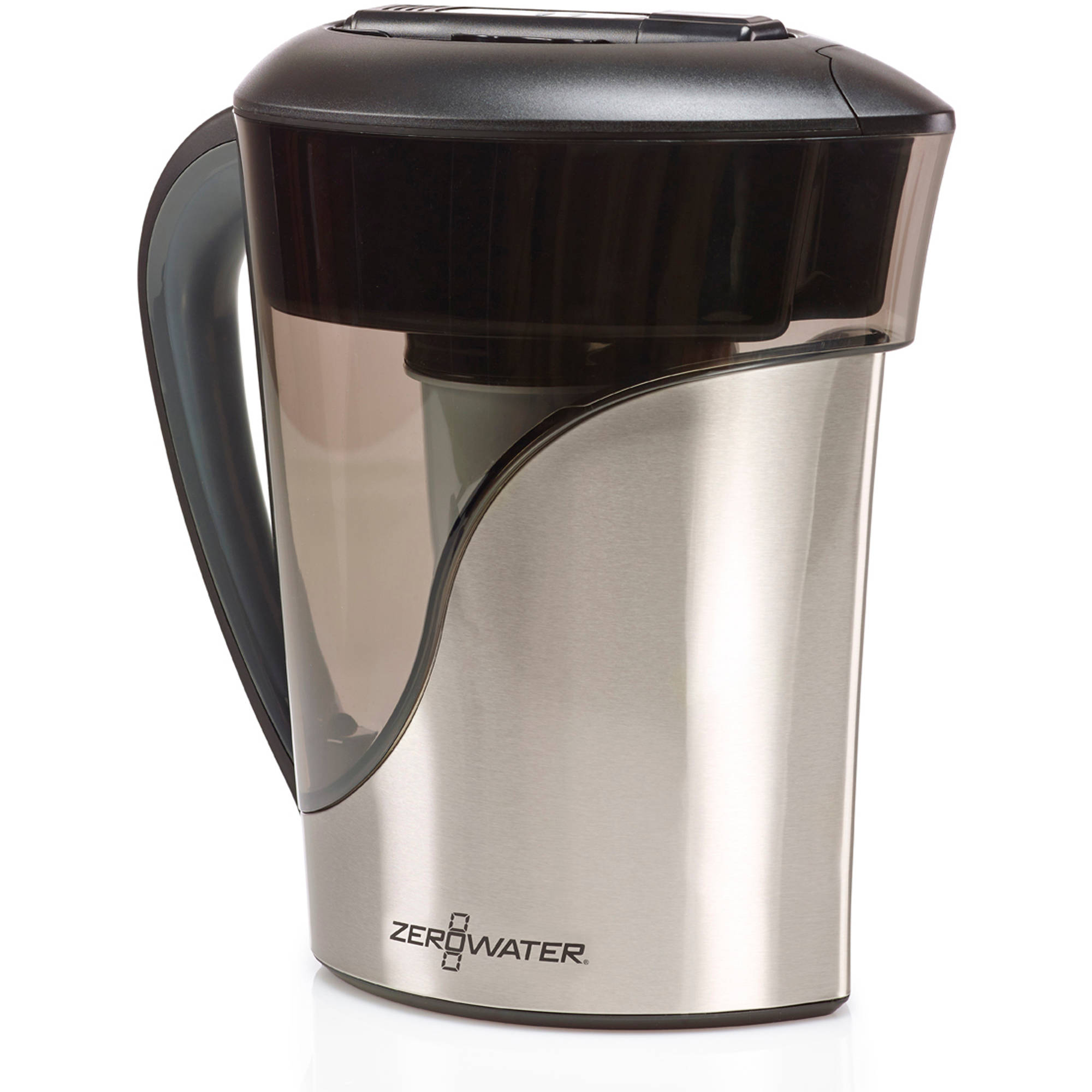 ZeroWater ZS-008 8-Cup Stainless Steel Pitcher with Free TDS Meter ( total dissolved meter)