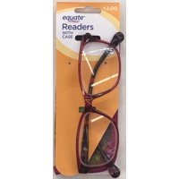 dd0efcf7dba Product Image Equate Readers Flora Red +2.00 Reading Glasses with Case