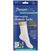 Activa Pressure Lite Light Energizing Diabetic Crew Socks Black Small