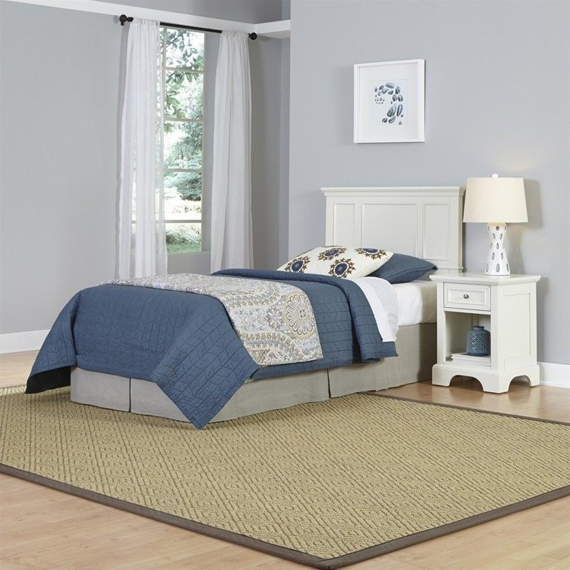 Home Styles Naples Twin Headboard and Night Stand