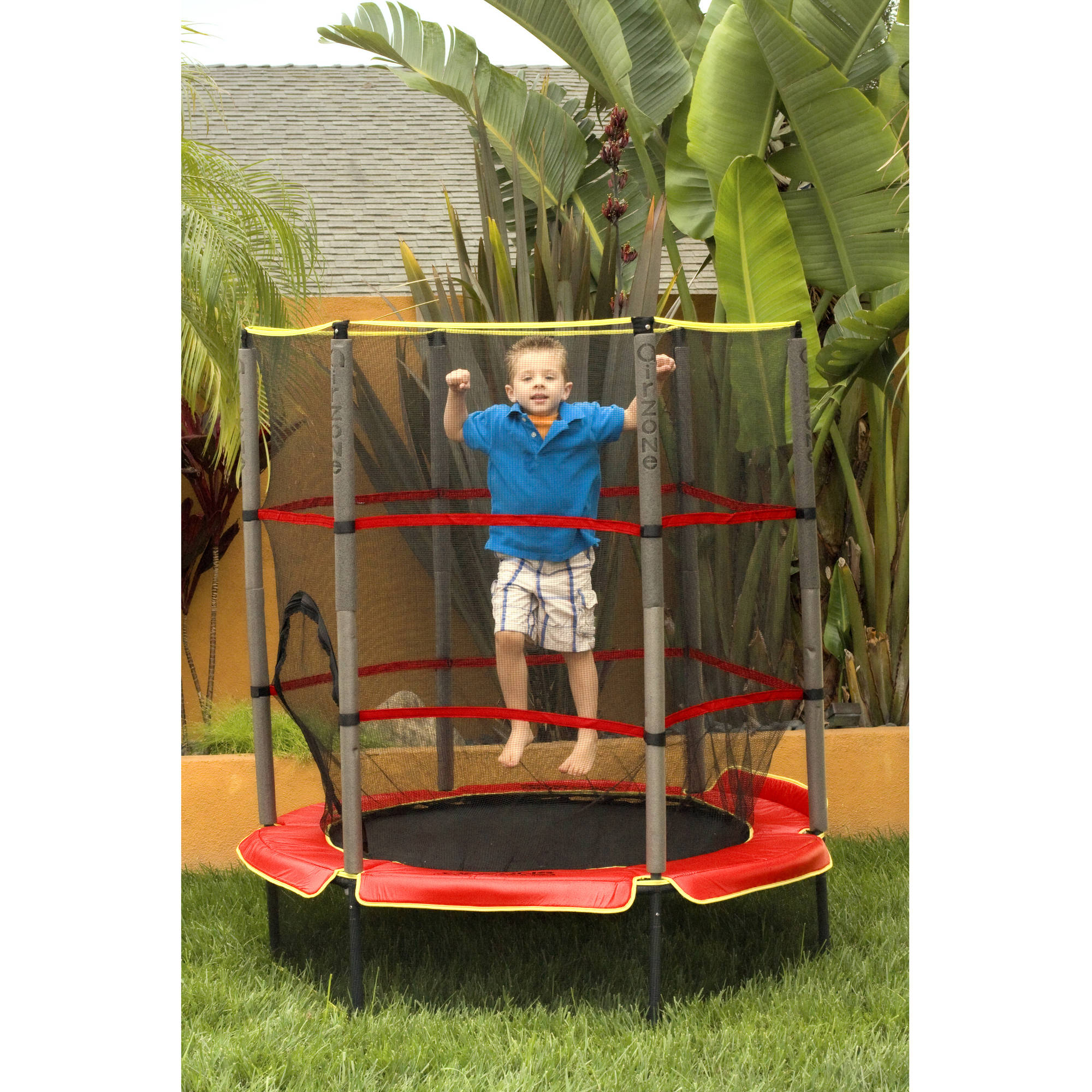 New 14ft Trampoline Combo Bounce Jump Safety Enclosure Net: Trampoline Outdoor Play Kids Bounce Jump With Safety Net