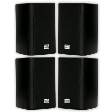 Acoustic Audio AA351B Indoor Outdoor 2 Way Black Speakers 1000 Watt 2 Pair