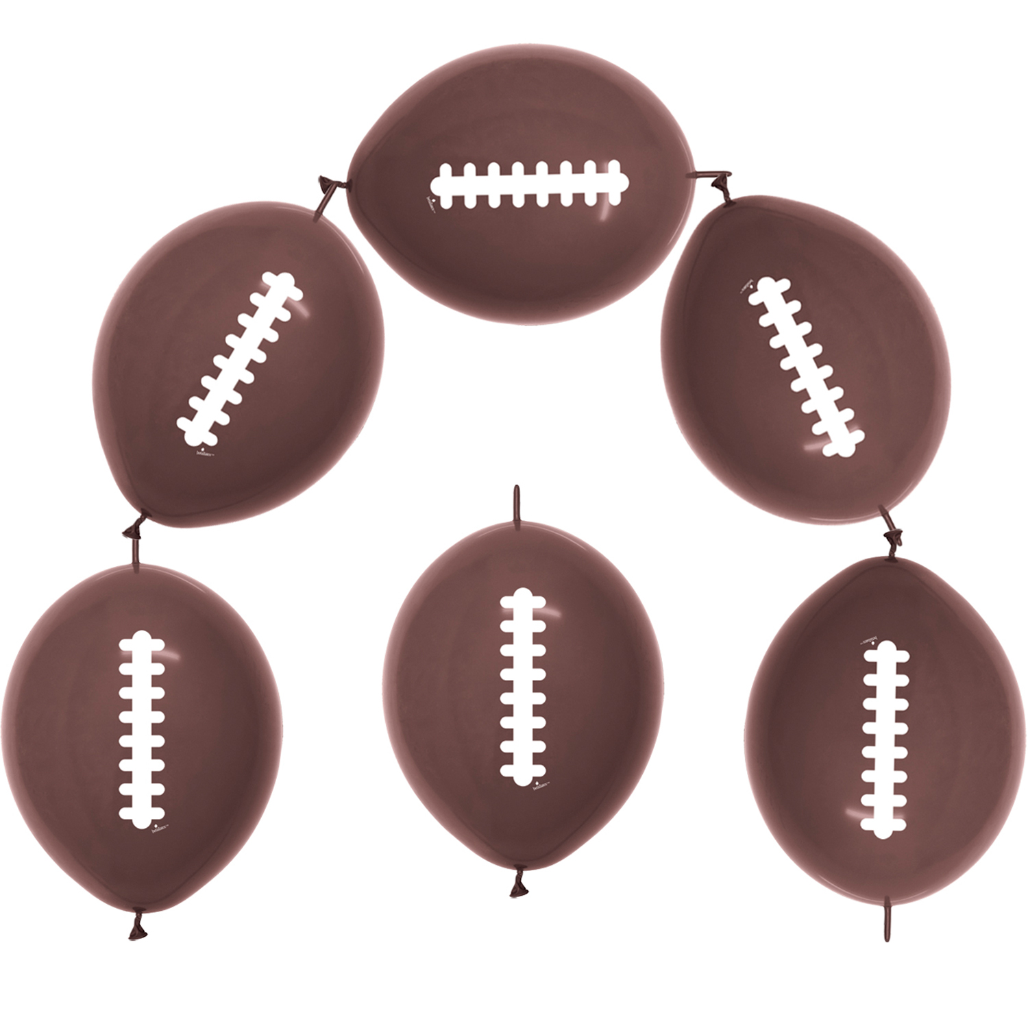 "Betalic NFL Super Bowl Party 50 Pack 12"" Link-O-Loon Balloons Chocolate Brown"
