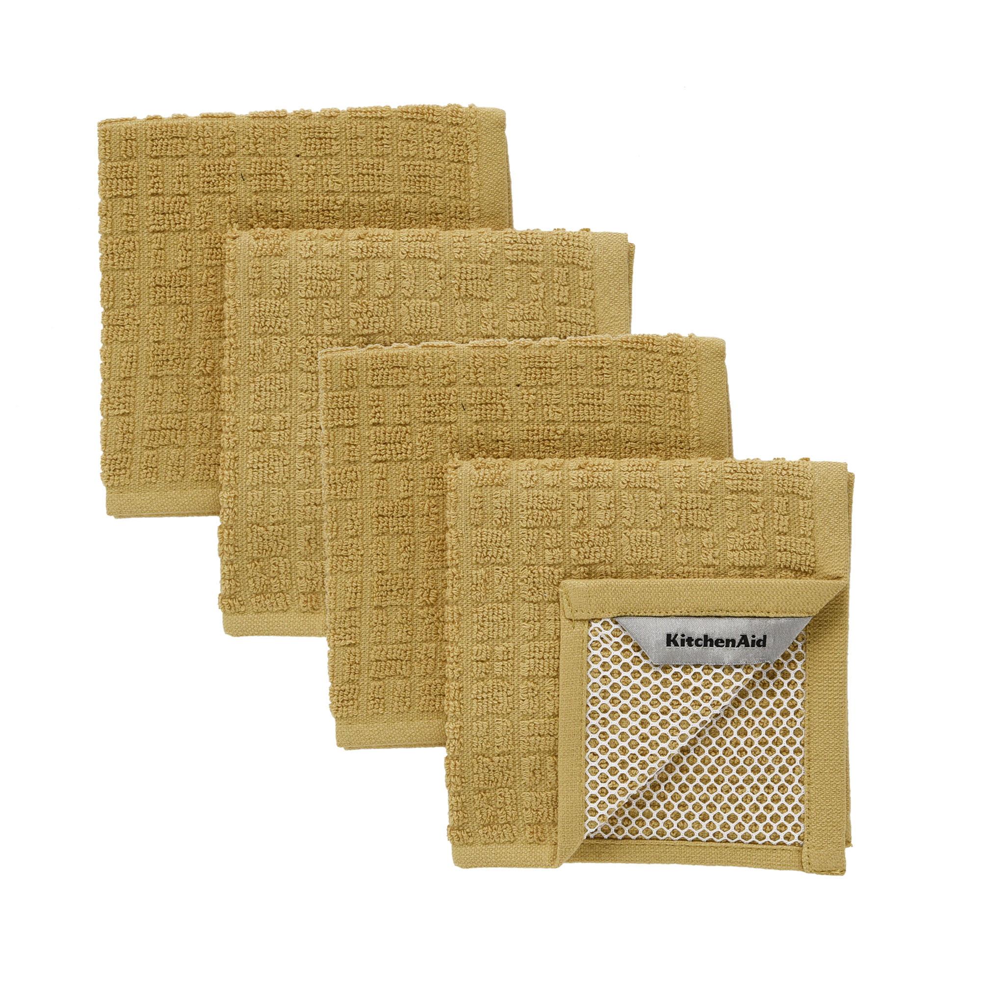 Kitchenaid Astral Scrubber Dishcloths, Wood, Set of 4