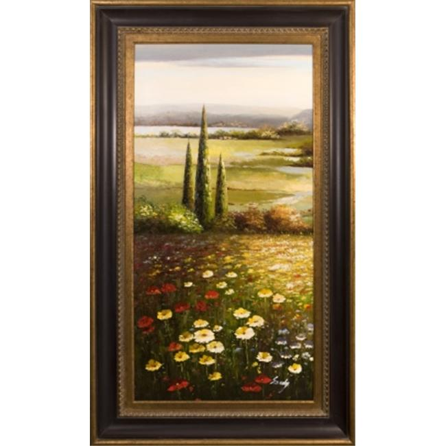 Artmasters Collection RM24861-670845 Floral Hillside Panel II Framed Oil Painting