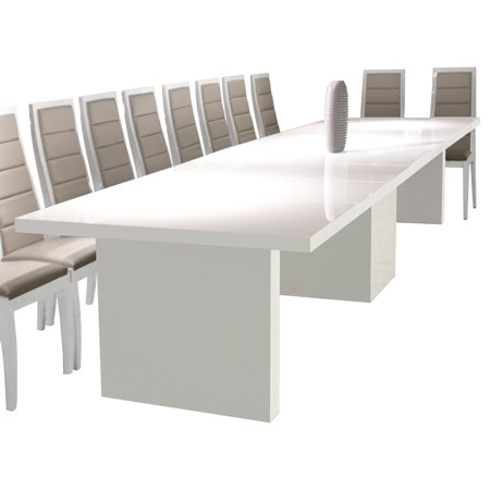 Largo Extendable Dining Table White Lacquer