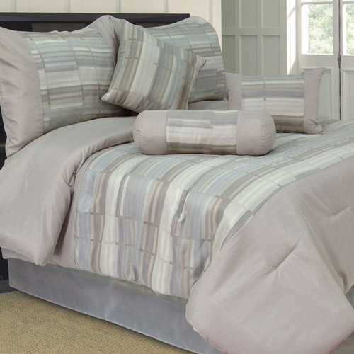 Somerset Home 7-Piece Diana Jacquard Bedding Comforter Set
