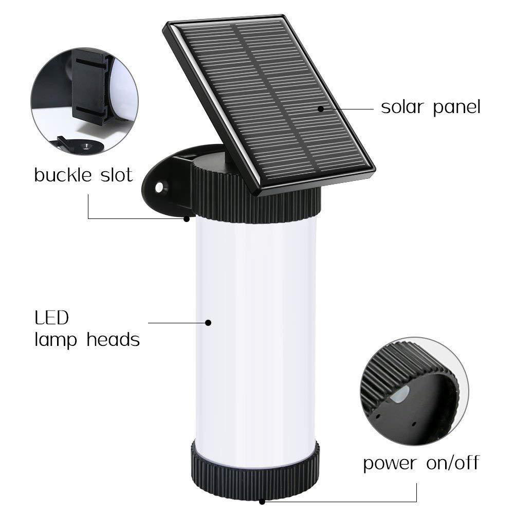 NEW 2pc Black LED Solar Powered Gutter Lights Garden Outdoor Home Security Light