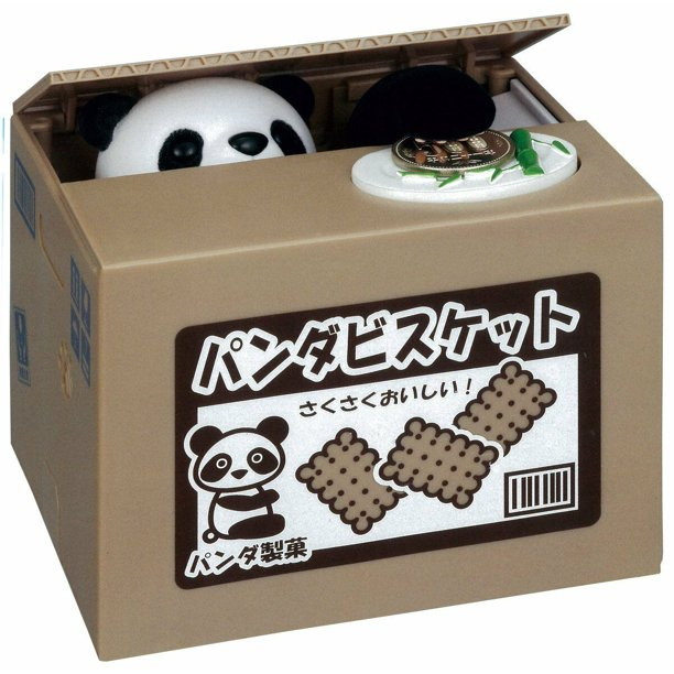 panda stealing coin bank