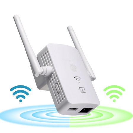 Long Range Wireless Router - WiFi Wireless-N Range Extender 300Mbps 802.11n/b/g  WLAN Repeater Signal Booster Network Router Dual Antenna