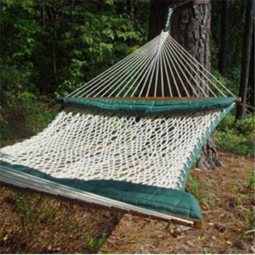 Soft-Sides Cotton Rope Hammock