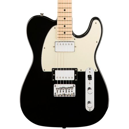 Squier Contemporary Telecaster HH Maple Fingerboard Electric Guitar Black Metallic Telecaster Black Electric Guitar