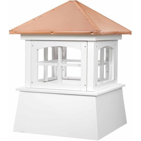 Cupola Copper Roof - Good Directions Huntington Vinyl Cupola with Copper Roof - 22