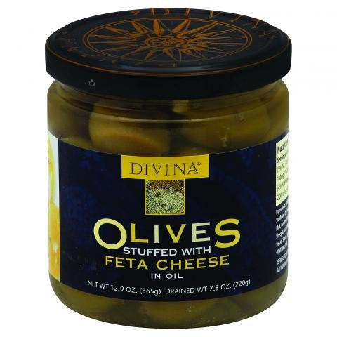 Divina Olives Stuffed with Feta Cheese in Oil, 7.8 OZ