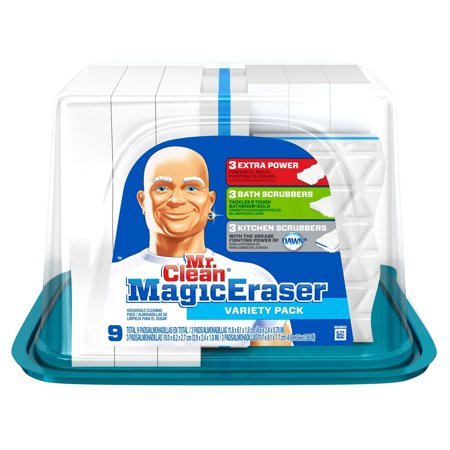 - Magic Eraser - Variety Pack - 9 ct., KITCHEN DMi Counts 25 Wall EXTRA Mr Pads WhiteBlue Count Clean by Pack Eraser Tub 11 Decal SALE 35 Chalkboard Vinyl Years.., By Mr. Clean