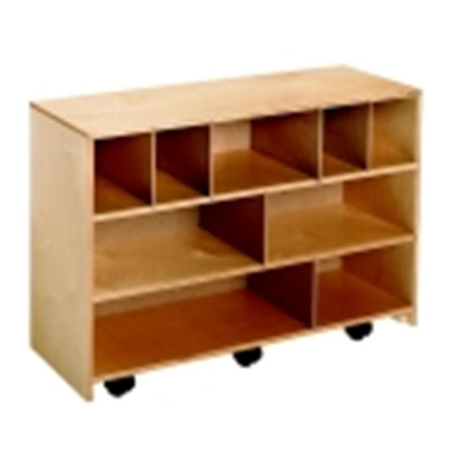 Childcraft Mobile Block Cabinet, 35.75 W x 13 D x 24.81 H in. by Childcraft