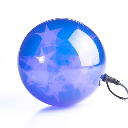 24 Blue Leds 6 In Dia Holographic Starfire Sphere
