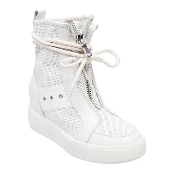 eff317afd658 ... internal wedge secretly lifts and flatters for the illusion of longer  legs. Hidden internal wedge Zipper Rubber sole. Women s Steve Madden Anton  Sneaker