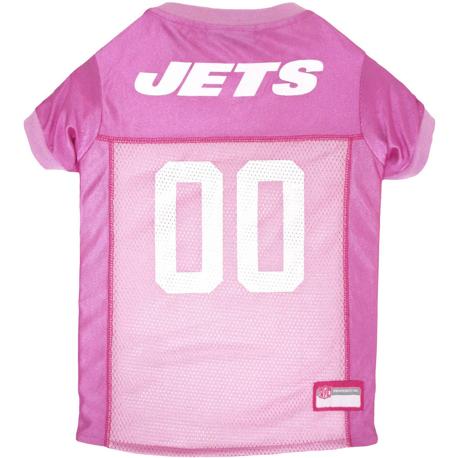 Pets First NFL, New York Jets Pet Pink Jersey, 4 Sizes Available