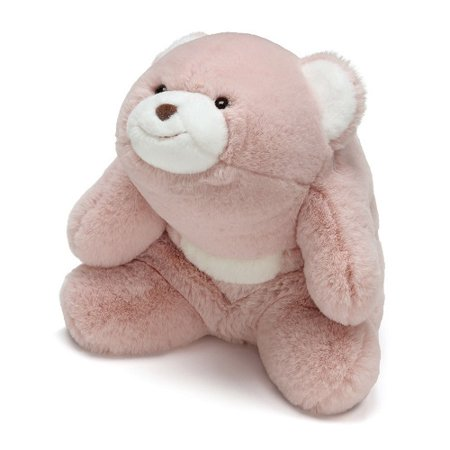 "- Gund Snuffles Teddy Bear Plush Stuffed Animal in Rose 10"" Toy, Pink"