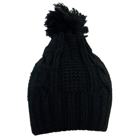 Best Winter Hats Women's Cable Knit Cuffless Winter Hat with 3 1/2