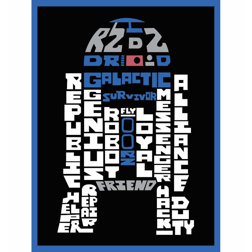 Star wars typography canvas print r2d2 8 quot x 10 quot walmart com