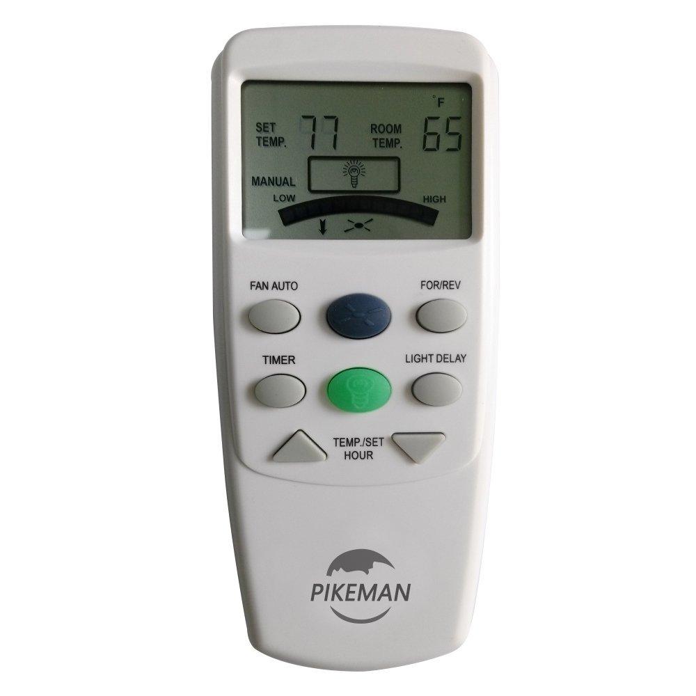 Ceiling Fan Remote Control Thermostatic LCD W Fan Reverse Function replace Hampton Bay FAN-9T L3HFAN9T -Pikeman by