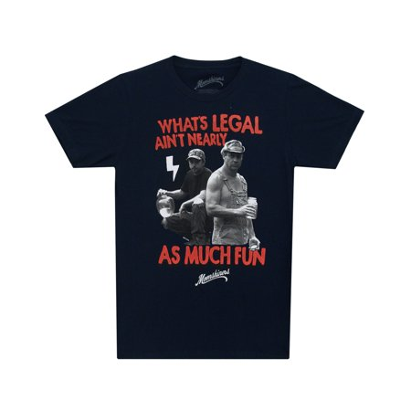 Moonshiners Whats Legal Aint Nearly As Much Fun Adult T-Shirt Tee