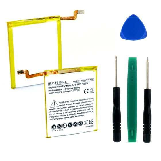 Huawei Mate S Cell Phone Battery (Li-Pol, 3 8V, 2620mAh) Rechargeable  Battery - Replacement for Huawei HB436178EBW Battery - Installation Tools