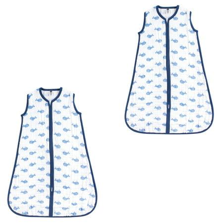brand new e0311 f25ff Hudson Baby Boy and Girl Muslin Sleeping Bag 2 Pack, Blue Whale, 12-18  Months